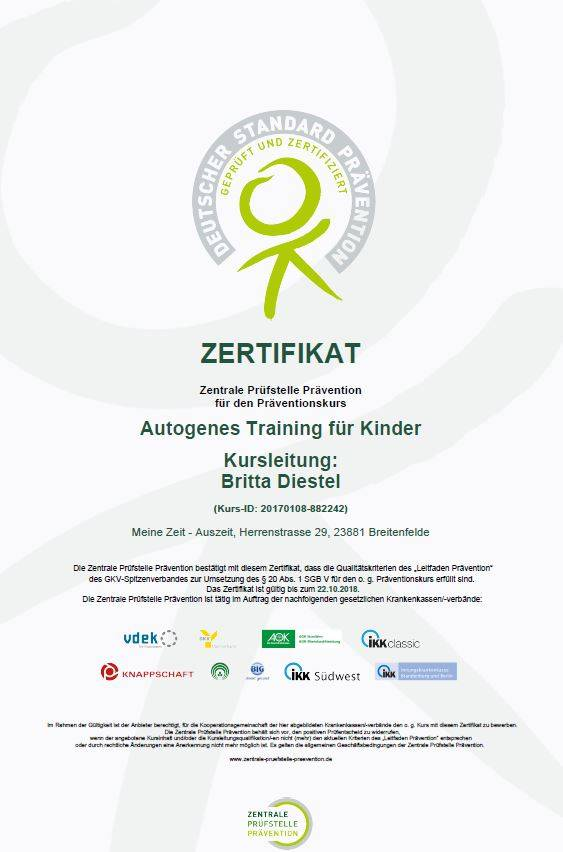 Zertifikat AT f.Kinder ZPP